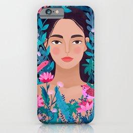 Jungle Girl iPhone Case