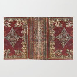 Tarnished Brass Book Cover Rug