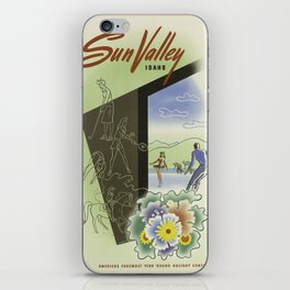 Vintage poster - Sun Valley, Idaho iPhone Skin