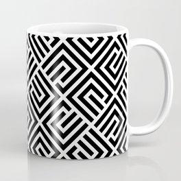 VAGUE BLOCK BLACK AND WHITE Coffee Mug