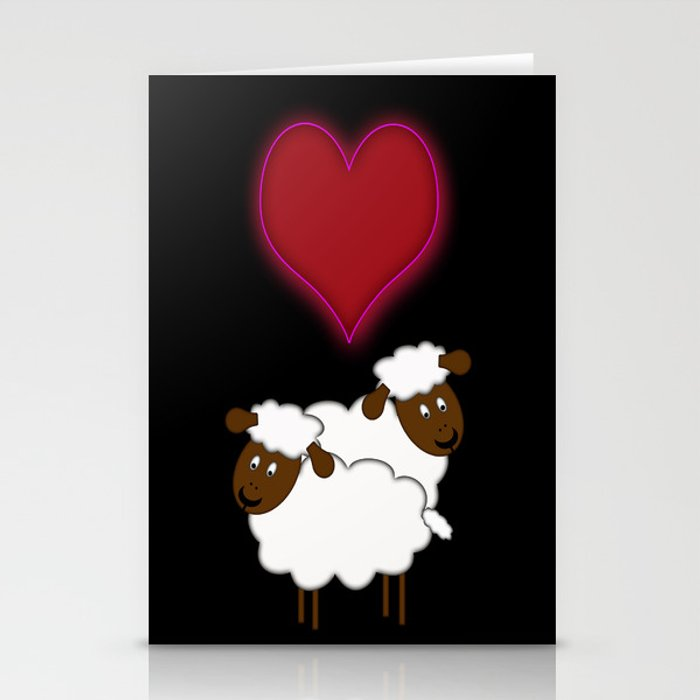 Sheeps in Love Stationery Cards