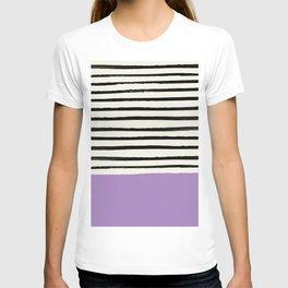 Lavender x Stripes T-shirt