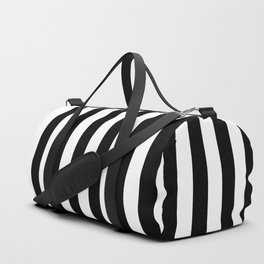 Black & White Vertical Stripes - Mix & Match with Simplicity of Life Duffle Bag
