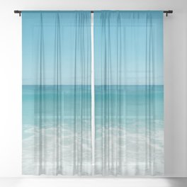 Hawaiian Water XI Sheer Curtain