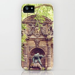 Medici Fountain in Spring iPhone Case