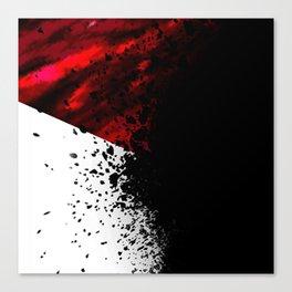 blacknwhitenredallover Canvas Print