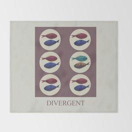 Divergent Throw Blanket
