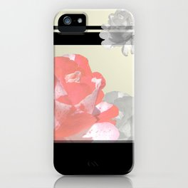Pink & Grayscale Flower Collage iPhone Case