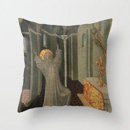Giovanni di Paolo - Saint Catherine of Siena Receiving the Stigmata Throw Pillow