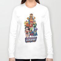 justice league Long Sleeve T-shirts featuring Justice League of Muppets by JoshEssel