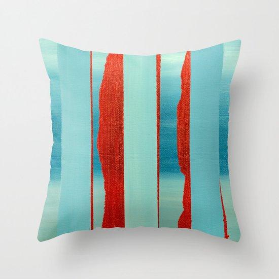 Blue Edge Throw Pillow