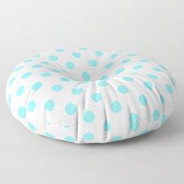 Polka Dots (Aqua & White Pattern) Floor Pillow
