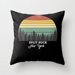 Split Rock New York Throw Pillow