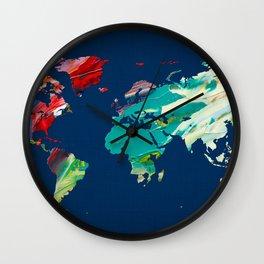 World Map 15 Wall Clock