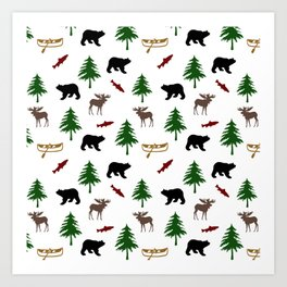 Moose Bear Art Print