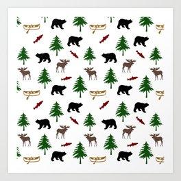 Moose Bear Art Print