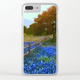 Bluebonnet season in Texas Clear iPhone Case
