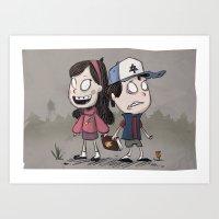 Pines Twins Art Print