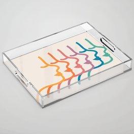 Boca Silhouettes Acrylic Tray