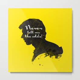 The Odds – Han Solo Silhouette Quote Metal Print