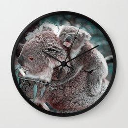 Koala, Mummy and Baby Wall Clock
