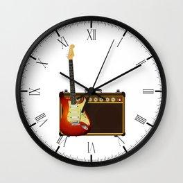 Guitar And Aplifier Wall Clock
