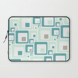 Retro Squares Mid Century Modern Background Laptop Sleeve