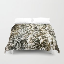 Snowy Trees Photography Print Duvet Cover