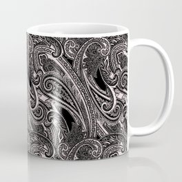 paisley wave in black and white Coffee Mug