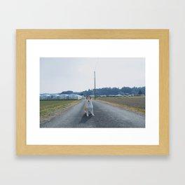Kit In The Country Framed Art Print