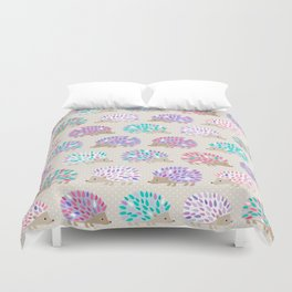 Hedgehog polkadot Duvet Cover