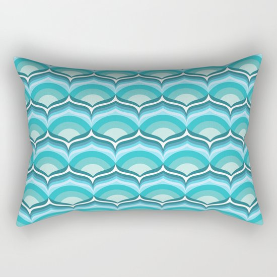 Soft Blue Pattern Rectangular Pillow