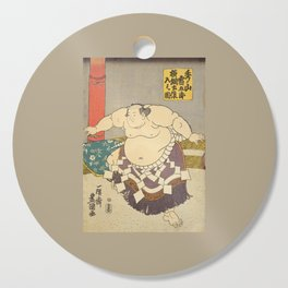 A strong Sumo Wrestler Hidenoyama, Sumo Wrestling Cutting Board