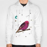 birdy Hoodies featuring Birdy by Gwladys R.