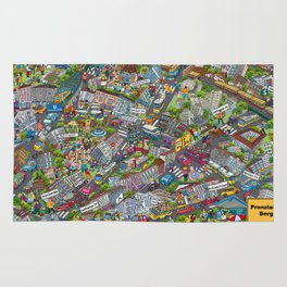 Illustrated map of Berlin-Prenzlauer Berg Rug