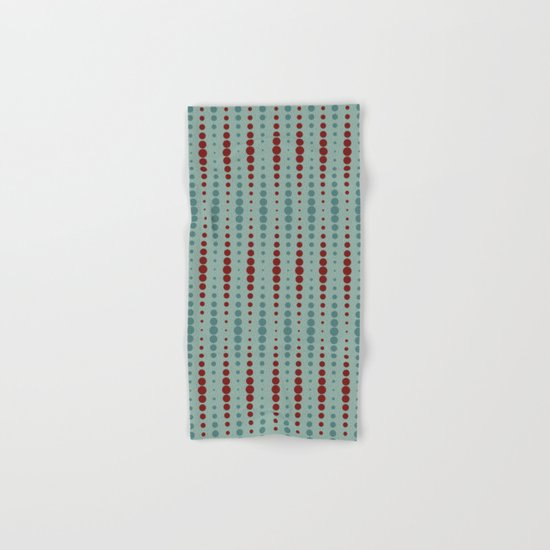 Geometric red-circle-pop Hand & Bath Towel