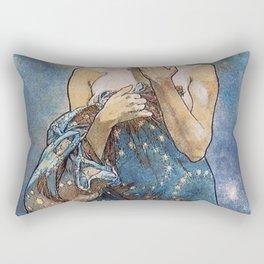 Alphonse Mucha Moonlight Art Nouveau Rectangular Pillow