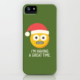 White Knuckle Christmas iPhone Case