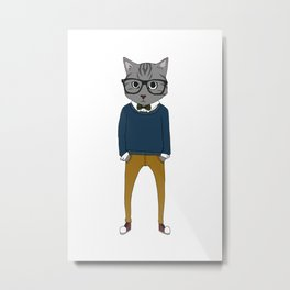 Cat Boy Metal Print