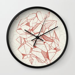 ABSTRACT POLY 1- Gem Wall Clock