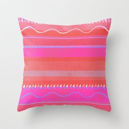 nayarit, fuschia Throw Pillow