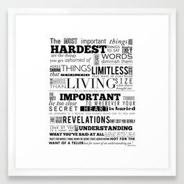 The Most important things Framed Art Print