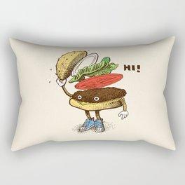Burger Greeting Rectangular Pillow