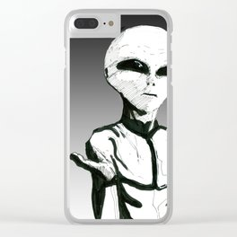 Modern Aliens Clear iPhone Case
