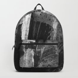 Shards // black and white abstract ink painting Backpack