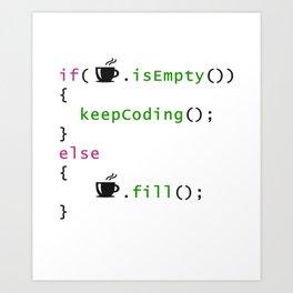 Coffee - coding syntax Art Print