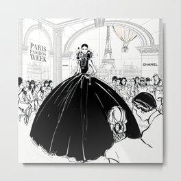 Anna Wintour at Paris Fashion Week Illustration  Metal Print