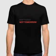 not tomorrow Black MEDIUM Mens Fitted Tee