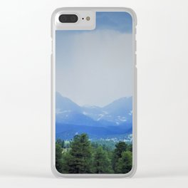 Rain Comes to the Mountains Clear iPhone Case