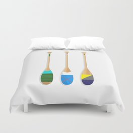 Painted Paddles Duvet Cover